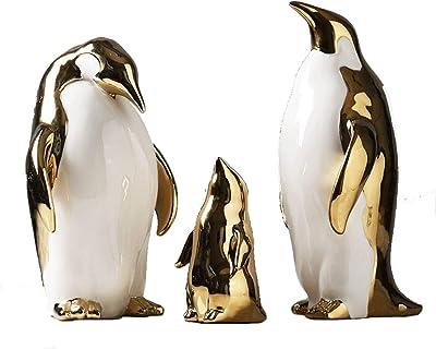 Nautical Bathroom Ornament Small Silver /& White Ceramic Penguin Sculpture