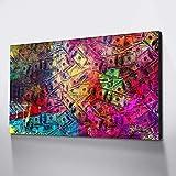 SQSHBBC Lienzo Pintura Decoración para el hogar Dinero en el Suelo Cuadro Impresiones en Lienzo Carteles e Impresiones50x100cm Sin Marco