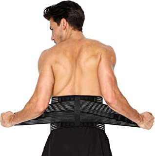 TriLink Back Support Brace for Lower Back Pain Relief- Lumbar Support Belt with Reinforcing Springs and Dual Adjustment Straps for Men & Women