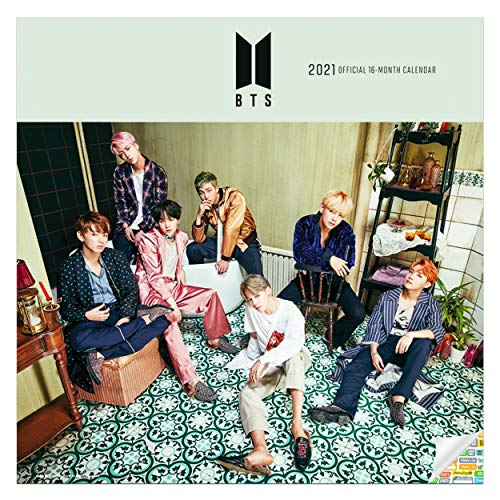 BTS Calendar 2021 Bundle - Deluxe 2021 방탄소년단 BTS Bangtan Boys Wall Calendar with Over 100 Calendar Stickers (Korean Kpop Gifts, Office Supplies)
