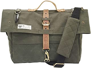 The House of Tara Solid Canvas Messenger Bag Laptop Compatible Padded Partition for Men and Women