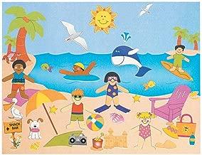 Dozen Design Your Own! A Day At The Beach! Sticker Scenes