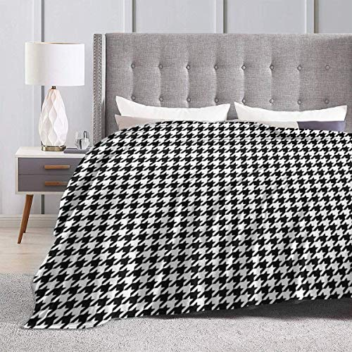 Yaxinduobao Bed Blanket Throw-Blankets for Kids Teenages Adults Bama Houndstooth Ultra Soft Micro Fleece Blanket 50X40inches