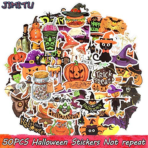 Halloween Sticker Grappige Graffiti Party Stickers Diy Scrapbooking Laptop Bagage Water Fles Koelkast Tablet Fiets 50 Stks
