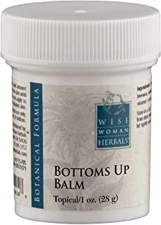 Wise Woman Herbals – Bottoms Up Balm – 1 Oz – Soothing Ointment for Anal Irritation, Reduces Swelling, Aids in Discomfort of Itching and Burning