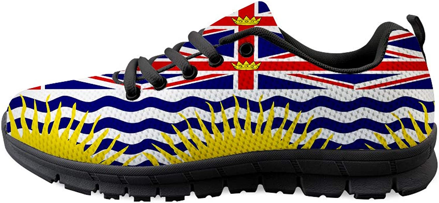 Owaheson Lace-up Sneaker Training shoes Mens Womens British Columbia Flag