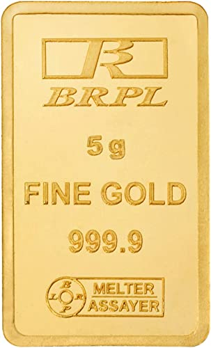 Bangalore Refinery 24k (999.9) 5 gm Yellow Gold Bar