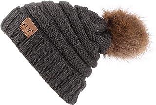 BaZhaHei Cappello in Maglieria Donna e Uomo Cappelli Autunnali e Invernali in Lana Elegante Retro Beanie Baggy Warm Hat Ca...