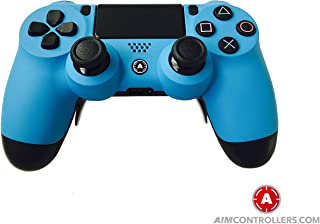 ps4 Controller PS4 Slim DualShock Custom Playstation 4 Wireless Controller - Custom AimController Blue Matt with 4 Paddles. Upper Left Square, Lower Left X, Upper Right Triangle, Lower Right O