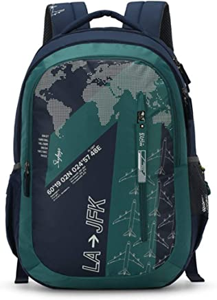 Skybags Figo Plus 03 34 Ltrs Green Casual Backpack (FIGO Plus 03)
