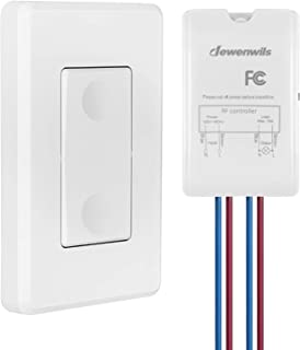 DEWENWILS Wireless Light Switch and Receiver Kit, Wall Switch Remote Control Lighting Fixture for Ceiling Lights, Fans, La...