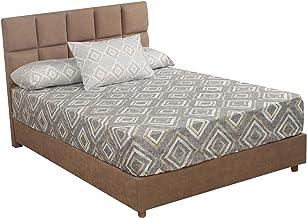 Al Maamoun Diamond Patterned Bed Sheet Set, 180x240 cm - 3 Pieces