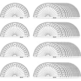 eBoot 50 Pack Math Protractors Plastic Protractor 180 Degrees, 4 Inches, Clear...
