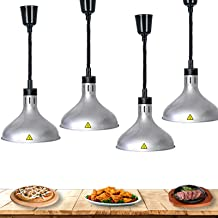 L-xiny Lampe Chauffante pour Aliments Commercial, Lampe D'isolation Alimentaire Rétractable 60-180cm, Lampe Chauffe-Plats ...