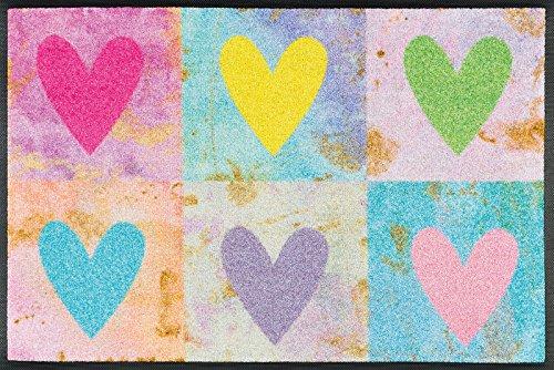 Wash+Dry Tapis, Surface en Polyamide, Coloré, 50 x 75 cm