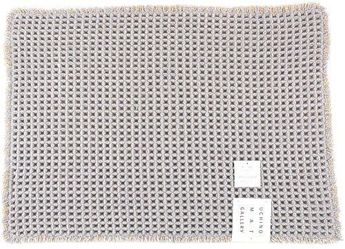 UCHINO MAT GALLERY ワッフルN バスマット M 50×70cm グレー TBM25856 Gy