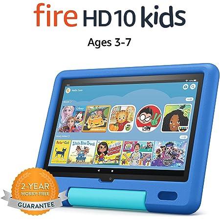 "All-new Fire HD 10 Kids tablet, 10.1"", 1080p Full HD, ages 3–7, 32 GB, Sky Blue"