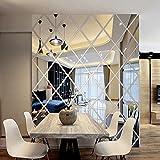 JiaMeng Pegatina de Pared, Pegatinas de Bricolaje 3D Etiqueta engomada del Espejo decoración de la Sala de Estar