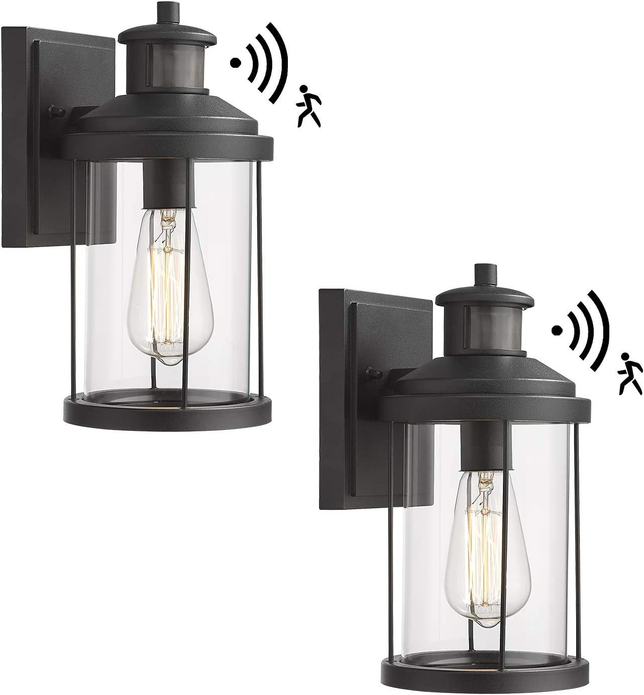 Bargain Zeyu Outdoor Wall Sconce with Motion Sensor Wal 2 Max 59% OFF Pack Exterior
