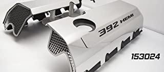 American Car Craft 153024-BLK Black Fuel Rail Cover (Polished Overlays 6.4 392 Hemi CF)