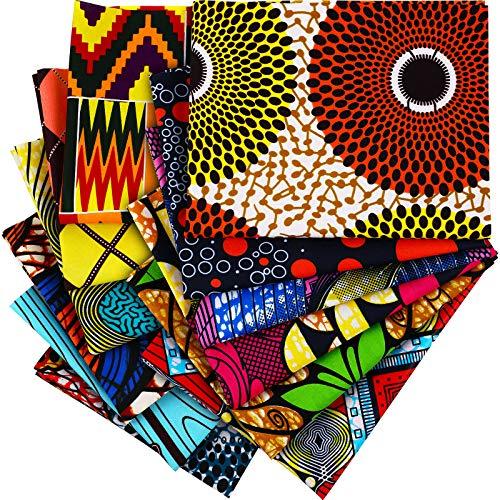 12 Telas Africanas Grandes de 19,5 x 15,7 Pulgadas (50 x 40...