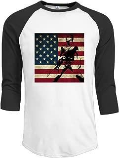 Bruce Springsteen Vintage USA Flag Men's Athletic Shirts