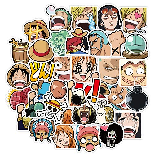 XINSHENG One Piece bauble 40Pcs Anime ONE PIECE Stickers PVC Sticker 3-4 CM Cute Waterproof Graffiti Stickers For Laptop Phone Cup Suitcase Scrapbooking
