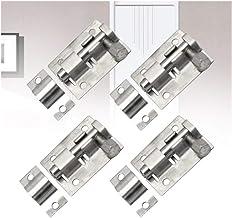 4 stuks Startpagina Silver Spoeltje Klink Solid Slide Lock Hardware Stainless Steel Gate Window Security Heavy Duty Veilig...