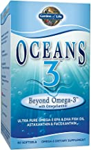 Garden of Life Ultra Pure EPA/DHA Omega 3 Fish Oil - Oceans 3 Beyond Omega 3 Supplement with Antioxidants, 60 Softgels
