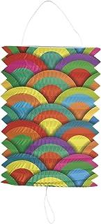 Folat 50507 dragspelslykta färgglada cirklar – 16 cm, flerfärgad
