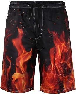 266f74cd8f Fieer Mens Plus Size Print Quick Drying Causal Half Swim Shorts Boardshort