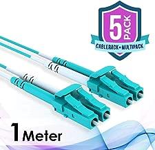 5-Pack CableRack 1m LC/LC 40/100GB Duplex 50/125 Multimode OM4 Fiber Patch Cable Aqua