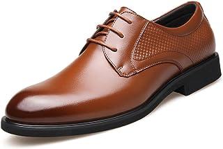 [Flova] ビジネスシューズ メンズ メッシュ 革靴 夏 レースアップシューズ フォーマル 通勤 就活 ブラック/ブラウン 24-27cm