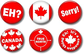 CANADA MAGNETS - Cute Locker Magnets For Teens - Cute Whiteboard Magnets For Home School or Office Funny Novelty Set