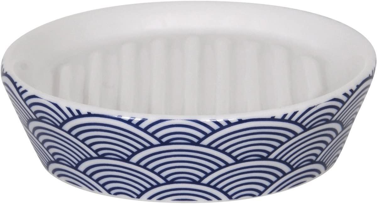 MSV Bento Soap Dish Ceramic New product! New type White x 30 Blue 20 15 online shopping cm