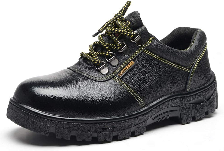EGS-schuhe Herren Arbeitsschuhe, Sicherheitsschuhe, Sicherheitsschuhe, Anti-Smashing, Anti-Rutsch,Grille Schuhe (Farbe   Schwarz, Größe   42)