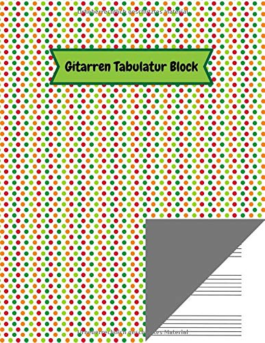 Gitarren Tabulatur Block: Tab Heft mit leeren Tabulaturlinien und Akkorddiagrammen | 108 Seiten inkl. Inhaltsverzeichnis | Geschenkidee für Gitarristen