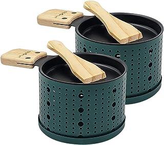 COOKUT - Lumi - Une raclette à la Bougie - Faites Fondre Votre Fromage en 3 Minutes - A Table ou Devant la télé - Spatule ...