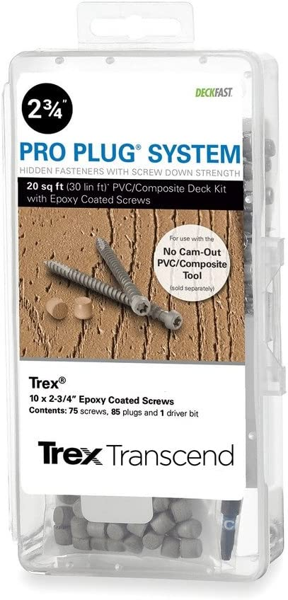 Pro Plug PVC Plugs and Epoxy Decking unisex Spiced Surprise price Screws Rum for Trex
