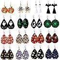 16-Pairs Makone Halloween Earrings for Women