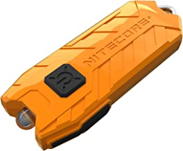 NITECORE Tube-ORN Nitecore Tube USB Rechargeable LED Keylight Pocket Keychain Flashlight (Orange), Youth-Unisex, Orange