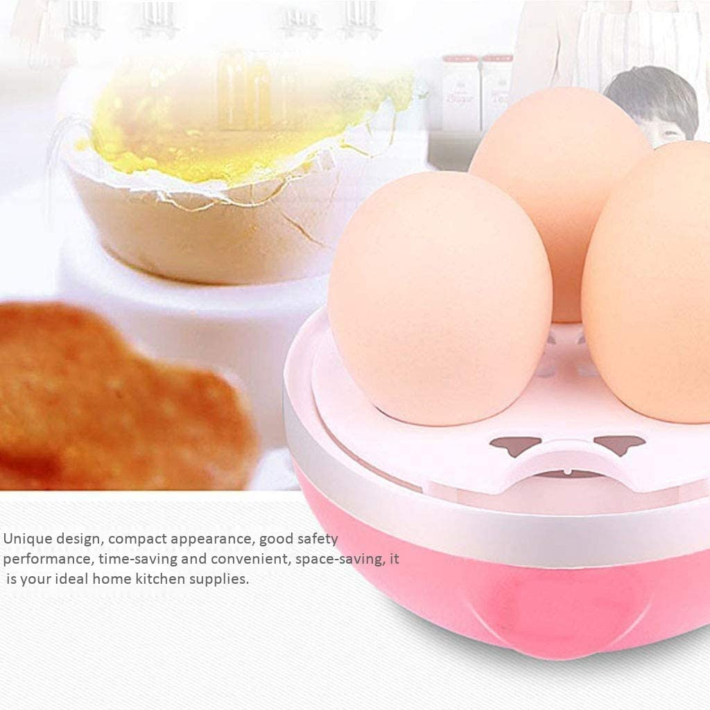 ZYLBDNB Eierkocher, Multifunktions-Mini Eierkocher mit automatischer Abschaltfunktion Start Tragbare Eierkocher für Frühstück Mittagessen Abendessen,Rosa,Pink Blue