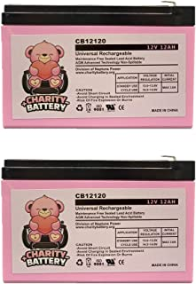 Terminator II 12V 12Ah Replacement Electric Scooter Battery CB12120 by Charity Battery - 2 pack