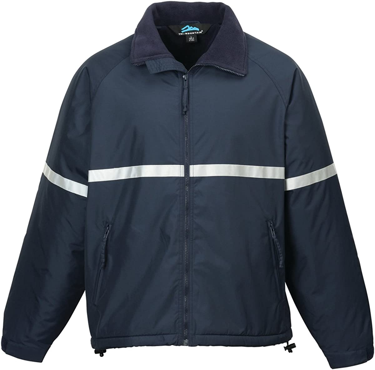 Tri-mountain Men windproof/water resistant heavyweight safety jacket. 8835 - NAVY_XL