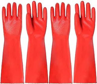 Hemoton 2 Paar Siliconen Schoonmaakhandschoenen Herbruikbare Rubberen Handschoenen Washandjes Afwashandschoenen Voor Moest...