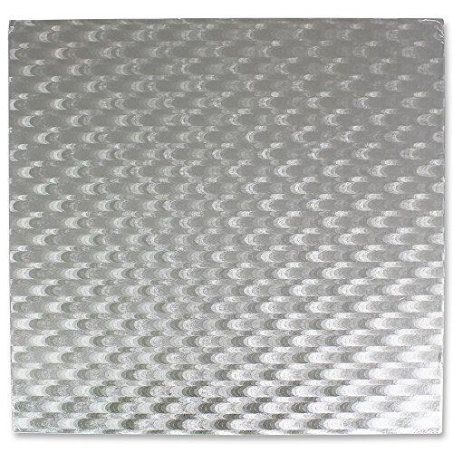 PME Quadratische Tortenplatte 40 cm, Kunststoff, Silber, 40 x 0.4 x 40 cm