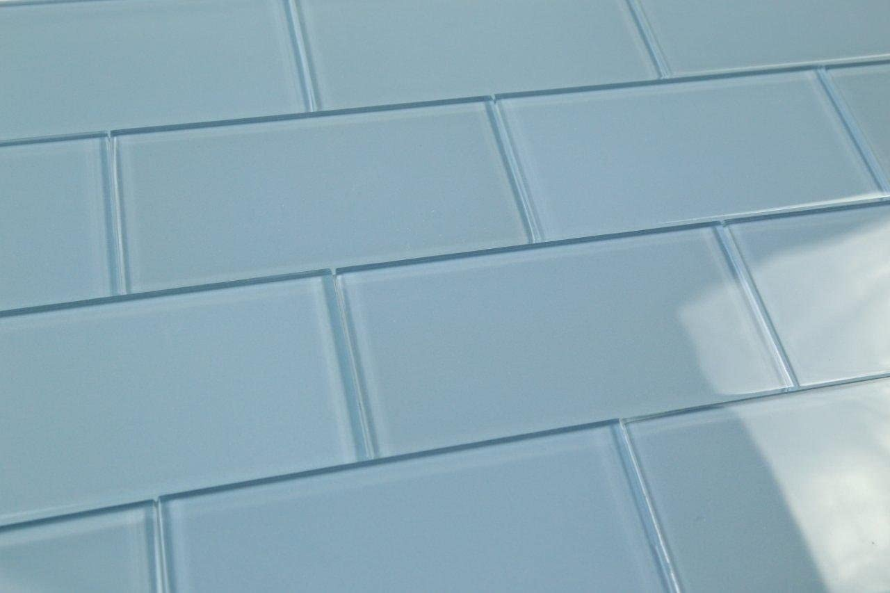 Medium Haven Blue Subway Glass Challenge the lowest price of Japan ☆ Tile Custom Max 85% OFF Made Hand and Crafted