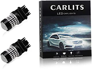 CARLITS 3157 LED Bulbs Red,  12-24V Super Bright 1000 Lumens 3156 3057 4157 3056 Replacement for Tail Brake Side Marker Lights(2 Pack)