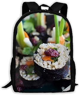 Lily-Shop Mochila Divertida de Sushi para Adultos Mochila de Viaje Ligera Mochila Unisex con impresión Completa Mochila para Adultos 43cm
