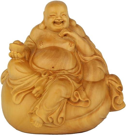 Religiöser Maitreya Buddha Holz Sammelbare Tasche Mithelfer Und Schlüsselan E9S1
